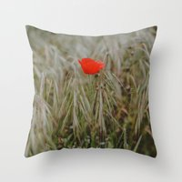 alone Throw Pillows featuring Alone by Hello Twiggs