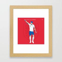 John Stones - Kicks & Stones Framed Art Print