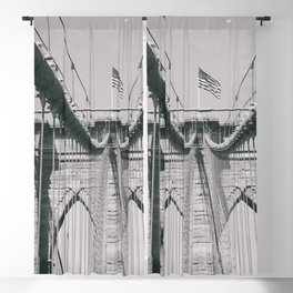 Brooklyn bridge, architecture, vintage photography, new york city, NYC, Manhattan view Blackout Curtain