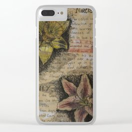 Daffodil collage Clear iPhone Case