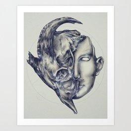 Mask of Evil Art Print
