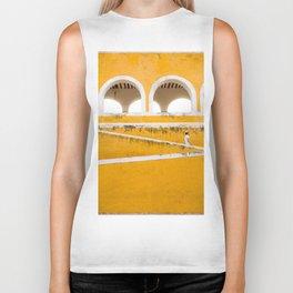 Colonial Mexico, Izamal in Yellow #buyart #society6 #decor Biker Tank