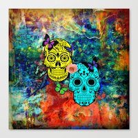sugar skulls Canvas Prints featuring Sugar Skulls by haroulita
