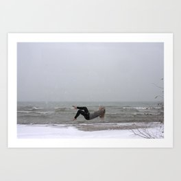 Lake Michigan Levitation Art Print