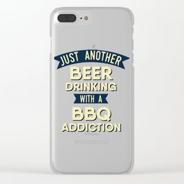 Pitmaster BBQ Barbecue food grill Put my meat in your mouth and swallow design bbq addiction Clear iPhone Case