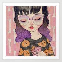 loll3 Art Prints featuring Pumpkin by lOll3