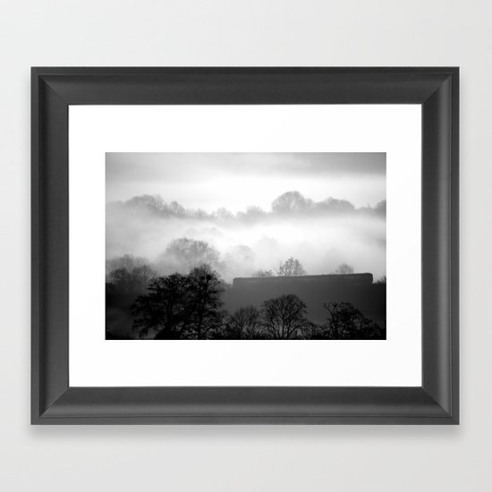 THE MORNING COMMUTE Framed Art Print