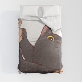 cat : huuh Comforters