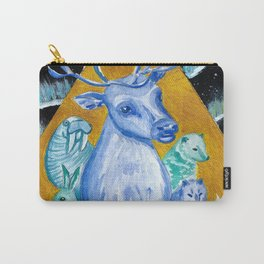 Reindeer, Arctic Mammals & Northern Lights Carry-All Pouch