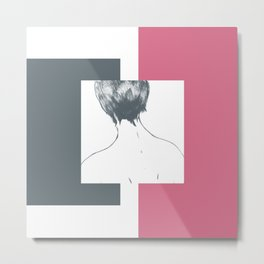 rose—abstract longing Metal Print