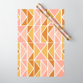 Blush and Terracotta Shapes Wrapping Paper