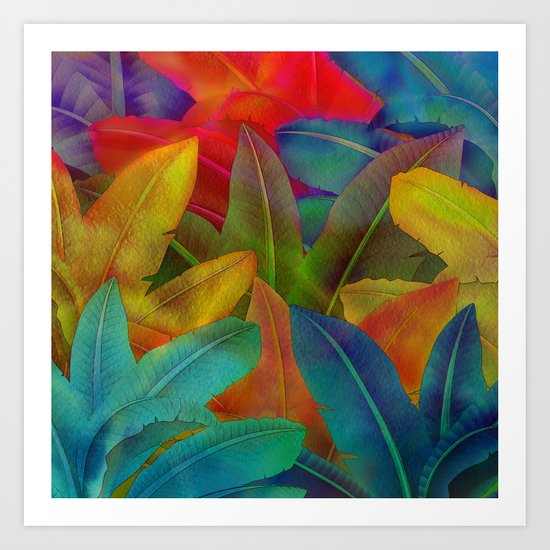 Exotic Leaf Pattern Art Print
