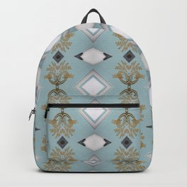 Soft Teal Blue & Gold No. 5 Backpack