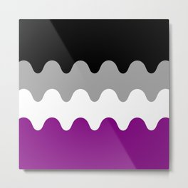Wavy Asexual Flag Metal Print