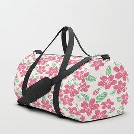 Japanese Sakuramon Flowers Seamless Patterns Symbols Duffle Bag