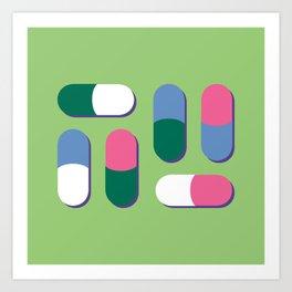 Colorful pills Art Print