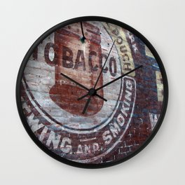 West Virginia Tobacco Wall Clock