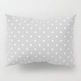 Small White Polka Dots On Light Grey Background Pillow Sham