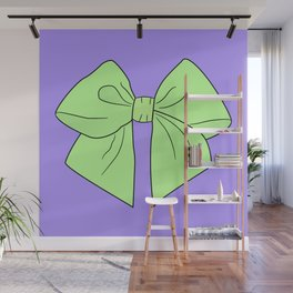 Spring Green Vector Bow Wall Mural