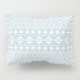Aztec Essence Ptn III White on Duck Egg Blue Pillow Sham