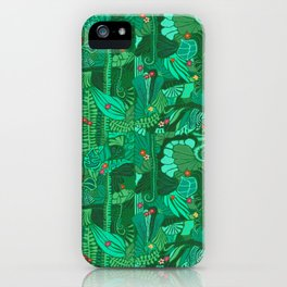 Tropical Forest Green iPhone Case