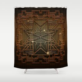 Abstract metal structure Shower Curtain