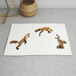 Fox Snow Jump Rug