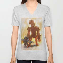 A RACOON AND A TREE Unisex V-Neck