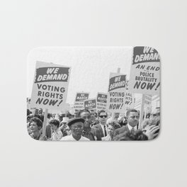 March on Washington Protest, 1963 Bath Mat