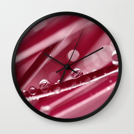 Grass with water drops 30 Wall Clock