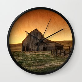 Memories of Harvest Wall Clock