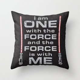 Force is with Me - Red&Black Throw Pillow
