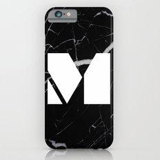 Black Marble - Alphabet M Slim Case iPhone 6s