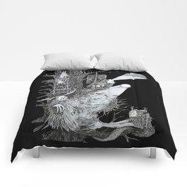 Full Moon Gathering Comforters