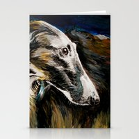 greyhound Stationery Cards featuring Greyhound Dog by BaconFactory