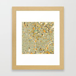 Twin Cities MAP Framed Art Print