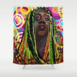 STEREOTYPES 2: Ghetto Until Proven Fashionable Shower Curtain