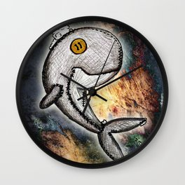 Woody the Whale Wall Clock