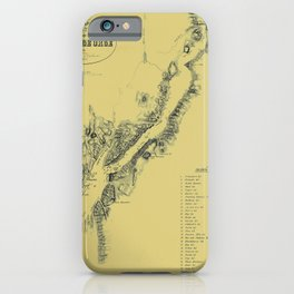 Map of Lake George 1855 iPhone Case
