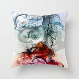 Something new comes to life by Nico Bielow Throw Pillow