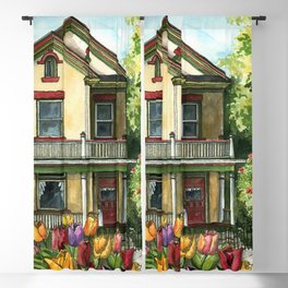 Victorian Eclectic with Spring Tulips Blackout Curtain