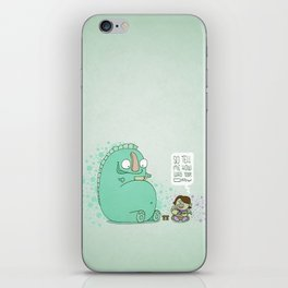 Monster and Tea iPhone Skin