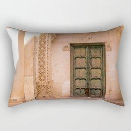 Millenial Pink Antique Door in India Rectangular Pillow