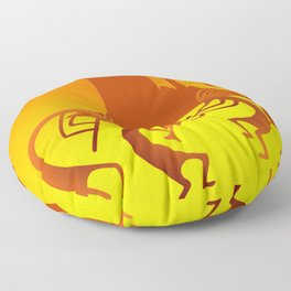 Sunny Day Kokopelli Floor Pillow