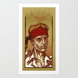 One Shot - Christopher Walken Art Print