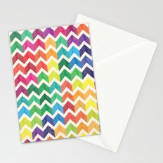 Watercolor Chevron Pattern IV Stationery Cards