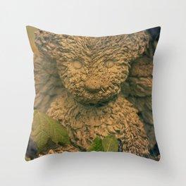 Teddy Bear Angel Throw Pillow