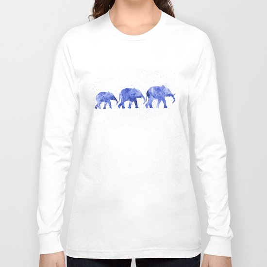 Blue elephants Long Sleeve T-shirt