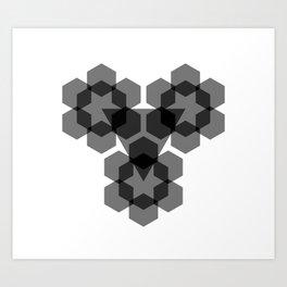 Opaque Blacks Art Print