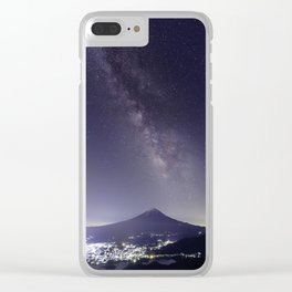 Mt. Fuji with the Milky Way Clear iPhone Case